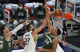 """Įsismarkavusių """"Jazz"""" vyrukų nesustabdė ir """"Bucks"""", D.Sirvydžio ekipa patiesė """"Celtics"""""""