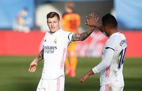 """""""Real"""" pratęsė pergalių seriją Ispanijoje ir susigrąžino antrą poziciją"""