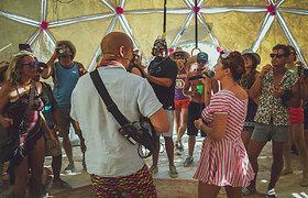 """Jurgis Didžiulis ir Erica Jennings festivalyje """"Burning Man 2019"""""""