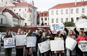 EHU studentai protestuoja dėl vis didėjančio neskaidrumo švietimo įstaigoje