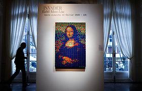 """Paryžiaus aukcione už 480 tūkst. eurų parduota iš Rubiko kubų sukurta """"Mona Liza"""""""