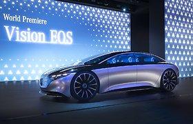 """Frankfurte """"Mercedes-Benz"""" pristatė """"Vision EQS"""": vienu įkrovimu įveiks daugiau nei 700 kilometrų"""