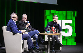 """15min forumas Herkaus Kunčiaus romano """"Geležinė Stalino pirštinė"""" pristatymas"""
