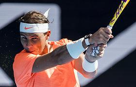 """R.Nadalis be vargo pasiekė """"Australian Open"""" ketvirtfinalį, rusų viltys žais tarpusavyje"""