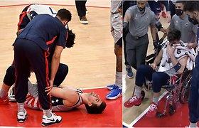 Smūgis didžiausiai Izraelio krepšinio vilčiai: po skaudžios traumos šį sezoną nebežais