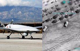 Nauja grėsmingai tiksli naikinimo technologija – Turkijos dronai