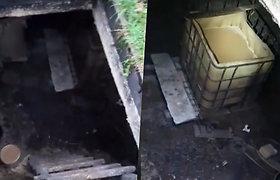Požeminėje slėptuvėje pareigūnai aptiko naminės degtinės varyklą