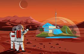 Astronautų kraujas, prakaitas ir ašaros gali padėti sukurti Marso koloniją
