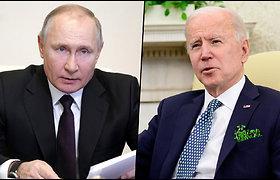 """J. Bidenas Rusijos prezidentą pavadino """"žudiku"""" ir sulaukė Kremliaus atsako"""