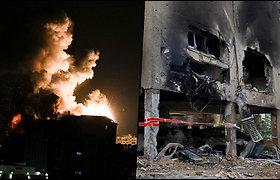 Iš Gazos Ruožo į Izraelį naktį paleista dar viena raketųsalvė – užsiliepsnojo civilių namai