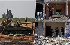 Izraelis toliau bombarduoja Gazos Ruožą – žuvo daugiau nei 100 palestiniečių