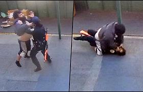 San Franciske nusikaltėlis pargriovė ir bandė pasmaugti policininkę