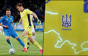 Ukrainos pristatyta Pasaulio futbolo čempionato uniforma supykdė Rusiją