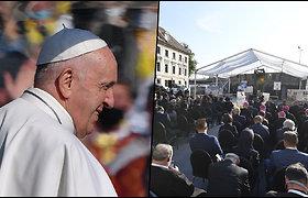 """Popiežius Pranciškus išreiškė """"gėdą"""" dėl Slovakijos žydų žudynių Holokausto metu"""