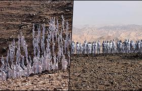 Šimtai žmonių nusirengė Izraelio dykumos viduryje