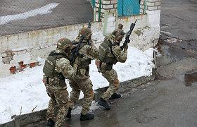Rytų Ukrainoje sprogus minai žuvo trys ukrainiečių kariai