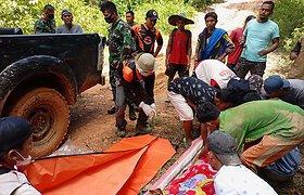 Indonezijoje purvo nuošliauža aukso kasykloje pražudė septynis žmones
