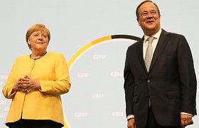 """A.Merkel """"tvirtai įsitikinusi"""" dėl savo bloko kandidato į kanclerius"""