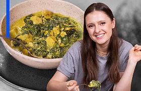 Vegetariškai su I.Zasimauskaite: tofu su špinatais ir grietinėle – skaniausias geležies ir baltymų šaltinis