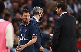 Įtampa Paryžiuje: PSG išsigelbėjo, bet L.Messi rodė nepasitenkinimą treneriu