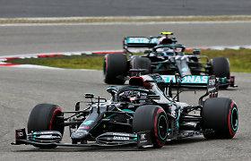 """""""Formulė 1"""" Vokietijoje: L.Hamiltonui iki M.Schumacherio rekordo pagerinimo lieka vos vienas žingsnis"""