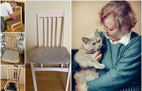 #Senjorainešvaisto. Irena senus baldus prikelia antram gyvenimui, o nedėvimus drabužius – paaukoja