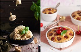 auGalingas iššūkis: orkaitėje kepti žiediniai kopūstai ir migdolinis pyragas su trešnėmis
