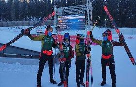 Istorinis pasiekimas: Lietuvos biatlonininkai Europos čempionate – ketvirti