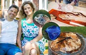 Renata Norvilė pradėjo gaminti indus: idėja gimė susidomėjus epoksidine derva