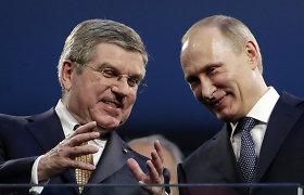 V.Putino skambutis: po sankcijų jis paskambino Tarptautinio olimpinio komiteto bosui