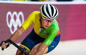 Dviratininkė Olivija Baleišytė Europos čempionate liko per plauką nuo medalio