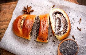 Ruošiamės Velykoms: gardus, purus mielinis pyragas su aguonų įdaru