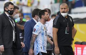 Chaosas Brazilijoje: L.Messi pyktis, vadovų apmaudas ir pareigūnų paaiškinimai