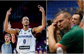 """M.Špokas kirto Europos čempionams slovėnams dėl natūralizuoto amerikiečio: """"Tai aptemdo ir deda šešėlį"""""""