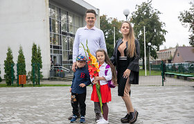 """Į paruošiamąją klasę dukrą išleidusi I.Puzaraitė nesijaudina: """"Barbora labai drąsi"""""""