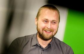 """Dovydas Pancerovas  """"15min"""" studijoje pristato savo  knygą """"Kiborgų žemė"""""""