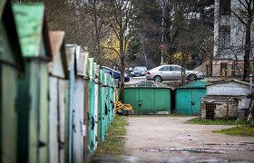 Vilniuje pavogtas metalinis garažas