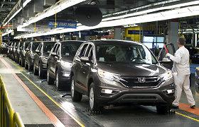 """""""Honda"""" trumpam sustabdys didžiąją dalį gamybos Šiaurės Amerikoje"""