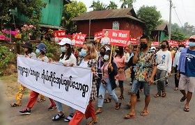 Mianmaro chunta grasina paleisti rinkimų klastojimu kaltinamą Aung San Suu Kyi partiją