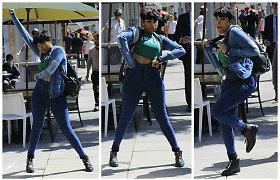 Paparaco kadras: Jennifer Hudson fotografus pradžiugino improvizuotu šokiu tiesiog gatvėje