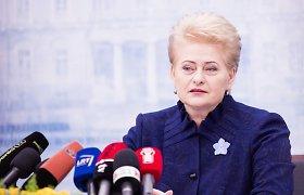 """D.Grybauskaitė: """"Nord Stream"""" yra """"Mistral"""" testas Europos energetinei sąjungai"""