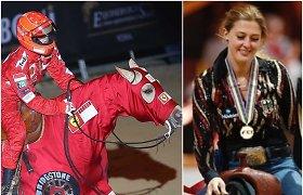 Michaelio Schumacherio dukra savo pergalę skyrė tėvui