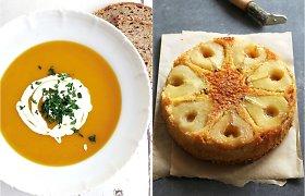 20 receptų, kuriuos verta išbandyti spalį: nuo moliūgų sriubos iki apversto kriaušių pyrago