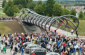 Jonavoje atidarytas naujasis pėsčiųjų tiltas