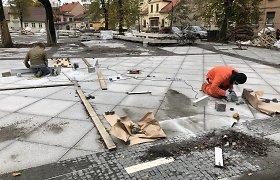 Telšių skulptoriai prisidėjo prie Ferdinando skvero Klaipėdoje rekonstrukcijos