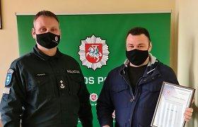 Bebaimis pilietis vienas išsprendė kruviną incidentą Prienuose – policijai beliko jam padėkoti
