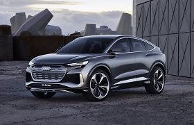 """Pamatykite: pristatė, kaip atrodys koncepcinis """"Audi Q4 Sportback e-tron"""""""