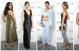 """""""Elle"""" apdovanojimuose pagerbtos Holivudo moterys: nuo Salmos Hayek iki Dakotos Johnson"""