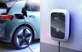 """""""Volkswagen"""" parodė, kuo naująjį ID.3 bus galima įkrauti namuose"""