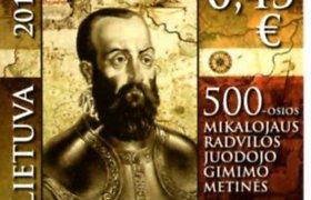 Iškilus šalies didikas Mikalojus Radvila Juodasis pagerbtas pašto ženklu